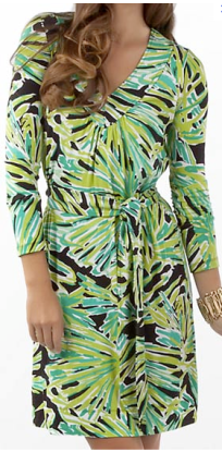 Black Greens with Envy V-neck Dress