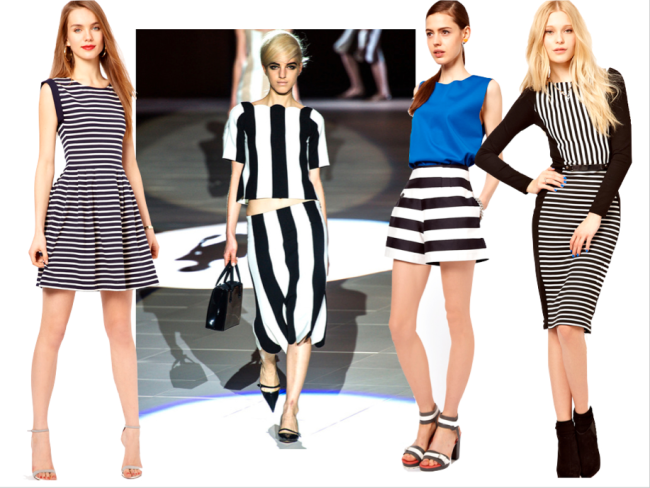 French Connection Stripe Skater Dress , Marc Jacobs Spring Summer 2013
