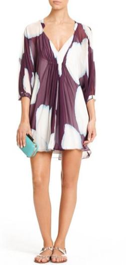 DVF Fleurette Silk Chiffon Dress