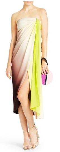 DVF Sandine Metallic Jacquard Sheath Dress